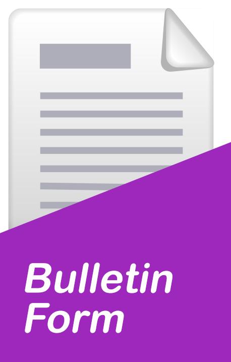 bulletin-form