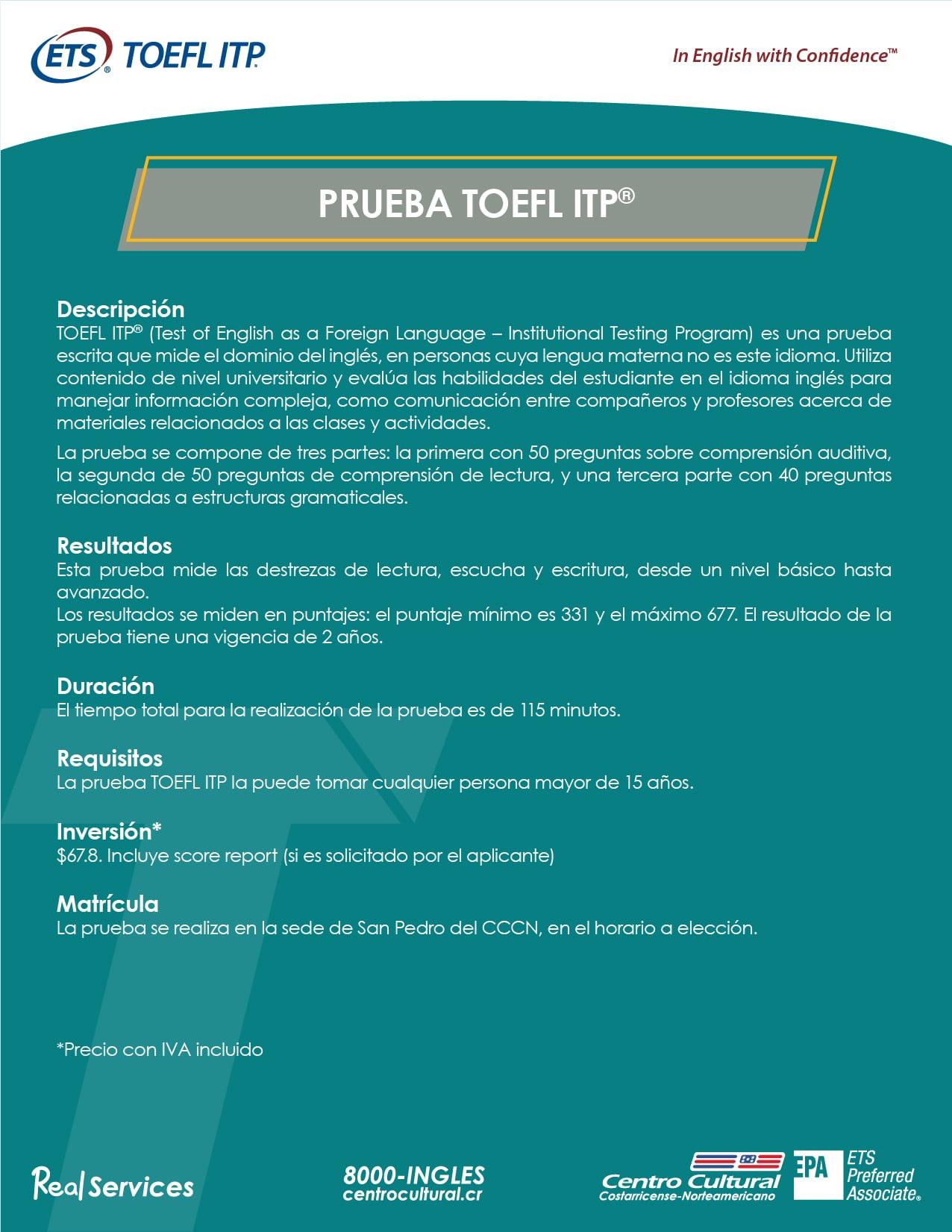 FICHA PRUEBA TOEFL ITP