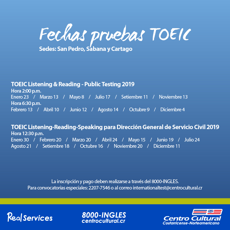 TOEIC Listening & Reading | Centro Cultural Costarricense